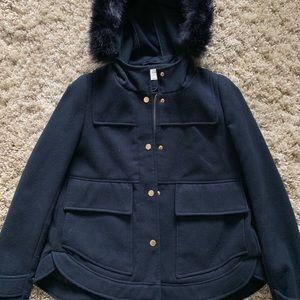 Zara parka coat hooded zip jacket